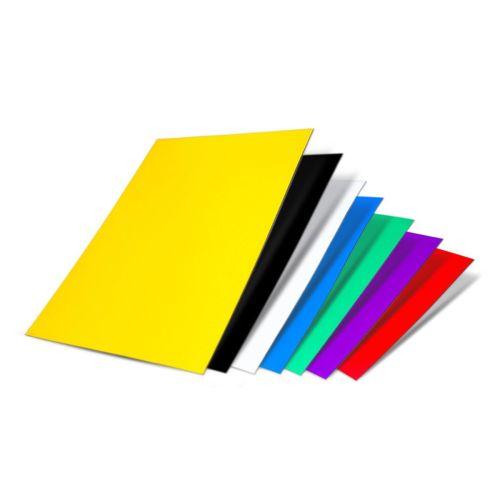 Farbige Magnetfolie DIN A4 Format zum Beschriften und Zuschneiden, 297x210 mm