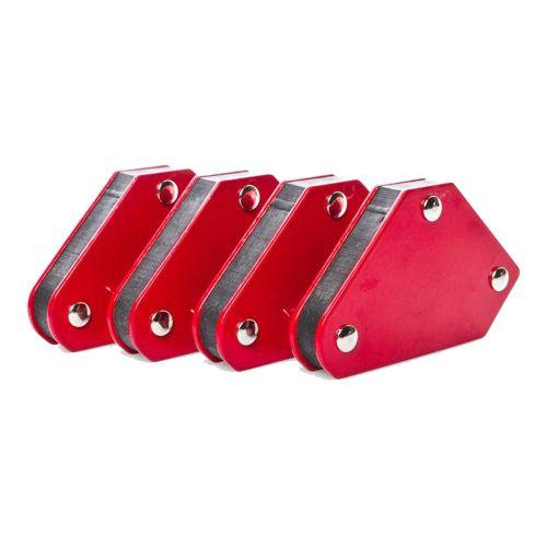 Magnetischer Schweißhilfe-Winkel, rot bis 4,5Kg, 4er-Set