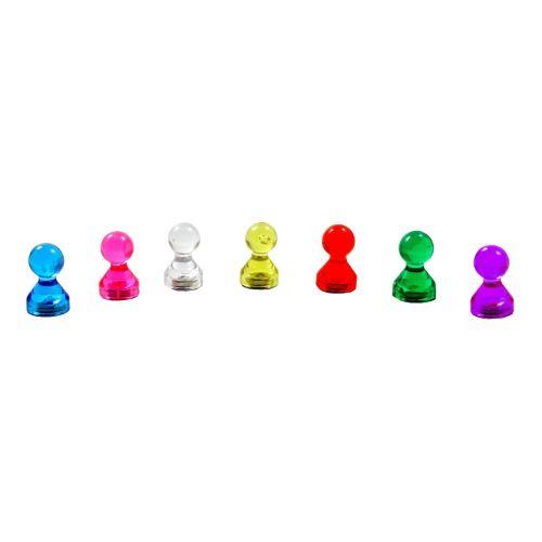Transparente Spielfigur, Büromagnet 11x17 mm für Pinnwand