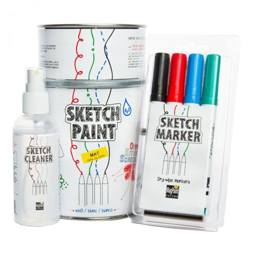 Sketch - Set, Cleaner, Marker, Putztuch , 1L Sketch Farbe