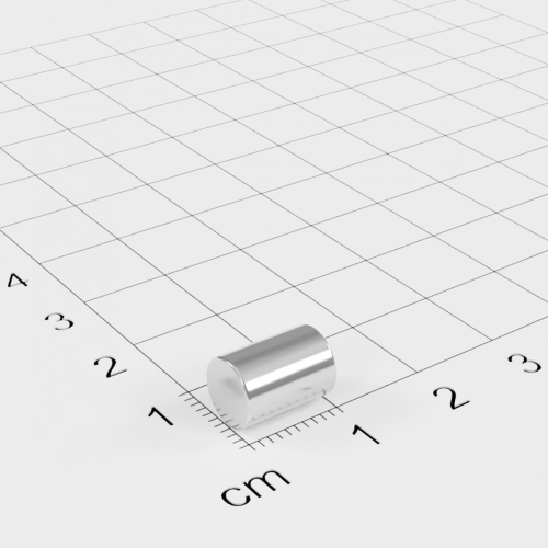 Neodym Stabmagnet, 7x10mm, vernickelt, Grade N45