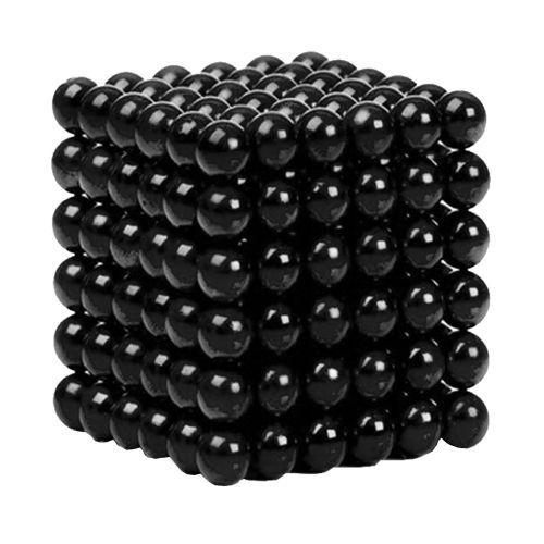 Neocube aus 5 mm Magnetkugeln - Set mit 216 Kugeln zum Würfel geformt -Schwarz