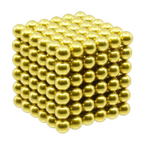Neocube aus 5 mm Magnetkugeln - Set mit 216 Kugeln zum Würfel geformt -Gelb