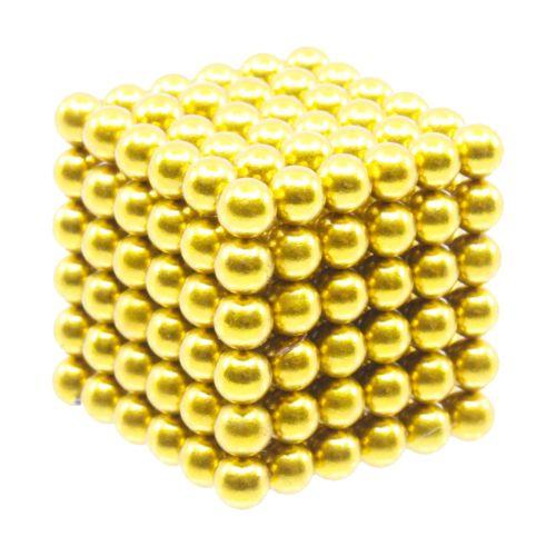 Neocube aus 5 mm Magnetkugeln - Set mit 216 Kugeln zum Würfel geformt -Gold