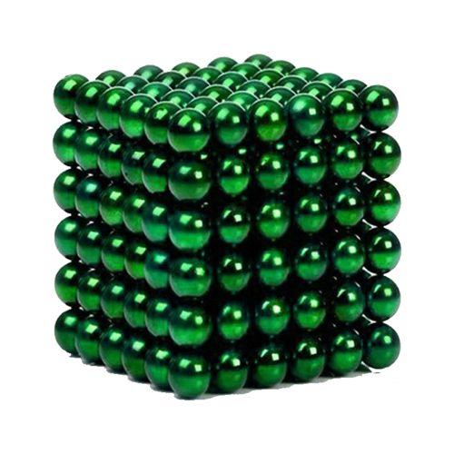 Neocube aus 5 mm Magnetkugeln - Set mit 216 Kugeln zum Würfel geformt -Grün
