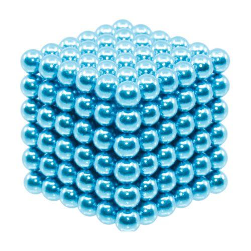 Neocube aus 5 mm Magnetkugeln - Set mit 216 Kugeln zum Würfel geformt -Hellblau