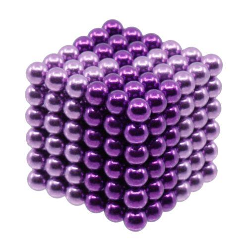 Neocube aus 5 mm Magnetkugeln - Set mit 216 Kugeln zum Würfel geformt -Helllila-Lila