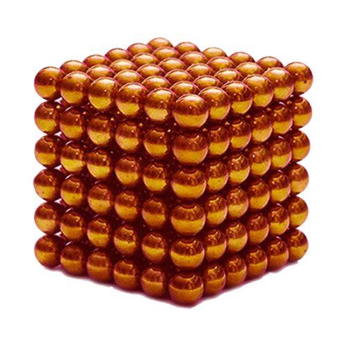Neocube aus 5 mm Magnetkugeln - Set mit 216 Kugeln zum Würfel geformt -Orange