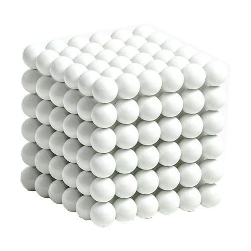 Neocube aus 5 mm Magnetkugeln - Set mit 216 Kugeln zum Würfel geformt -Weiß
