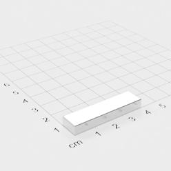 10 Stück Neodym Quadermagnete Magnetquader 25x8x2 mm N45 vernickelt sehr stark